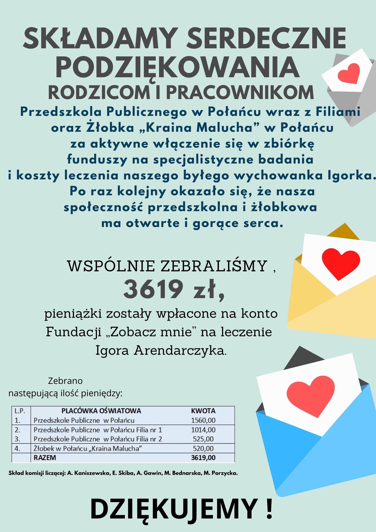 Podziękowanie Igorek
